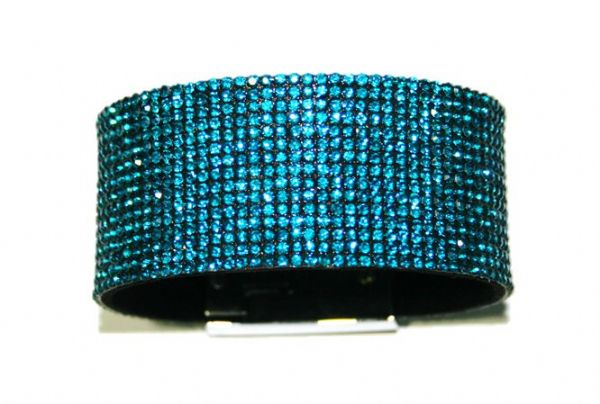 Diamante crystal bling cuff bracelet kit - Teel - lue zircon -- c4009010kit